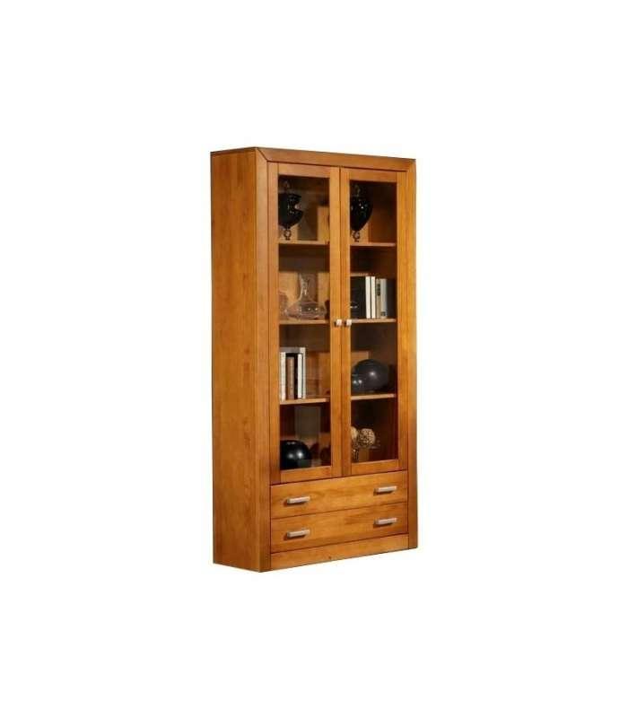 Showcase 2 Doors In Solid Wood.