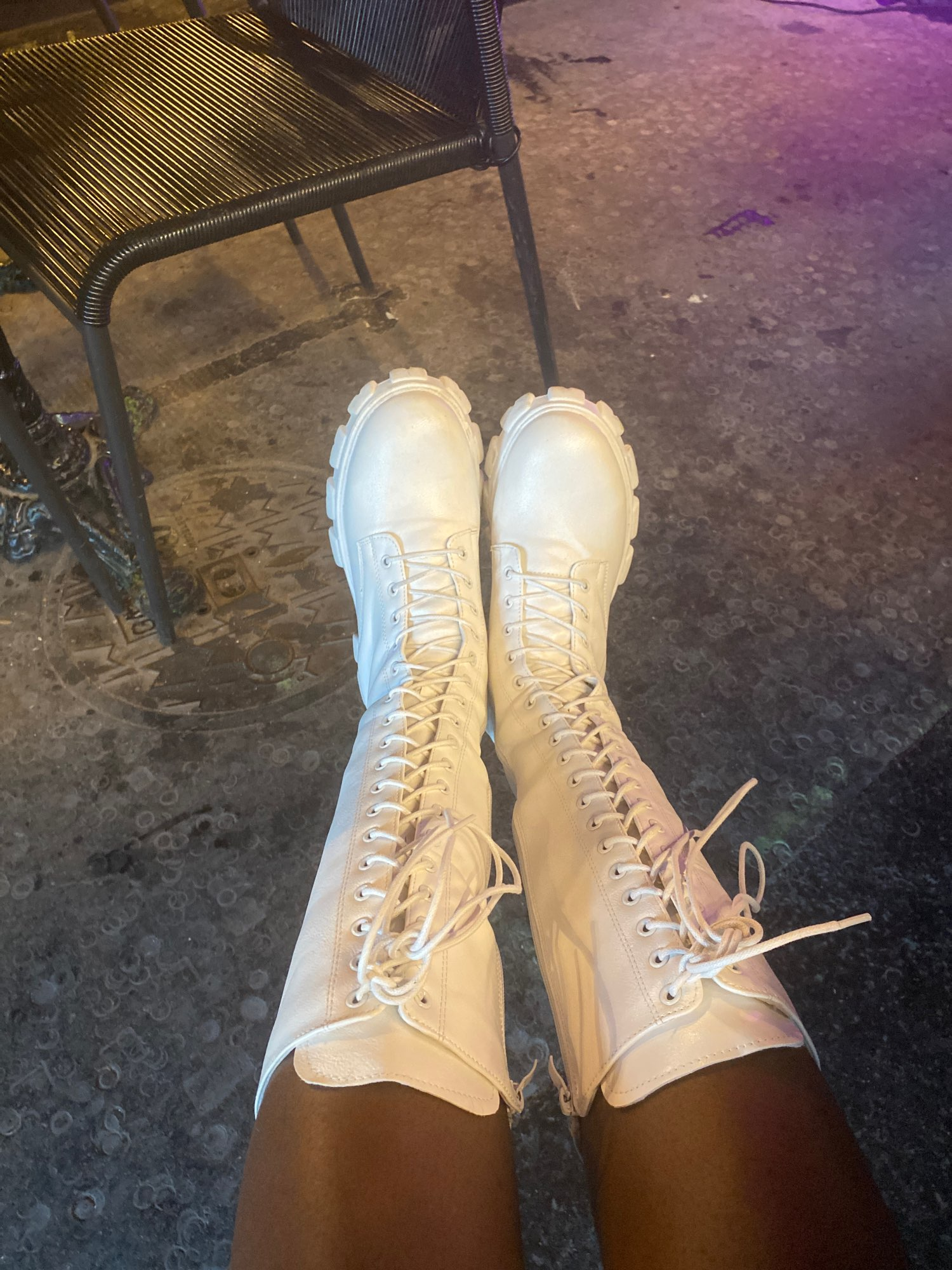 E-girl Gothic Punk Knee-high Pu Boots photo review
