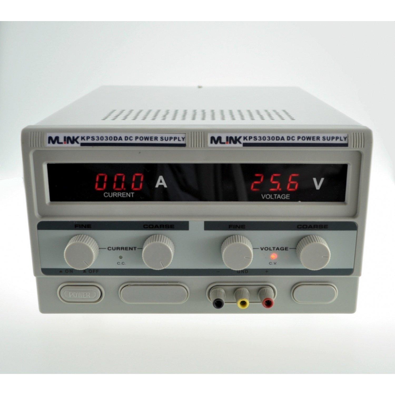 MLINK KPS3030DA-30 V, 30A REGULATED ADJUSTABLE DC POWER SUPPLY universal adjustable dc adapters