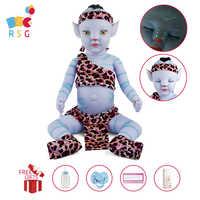 RSG Bebe Reborn-Muñeca de bebé de 20 pulgadas con luz nocturna, cuerpo de Vinilo Suave y realista, muñeco para regalar a los niños