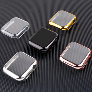 Cover for Apple Watch Case 44mm/40mm 42mm/38mm Accessories soft All-around TPU bumper Screen Protector iWatch Series SE 3 4 5 6