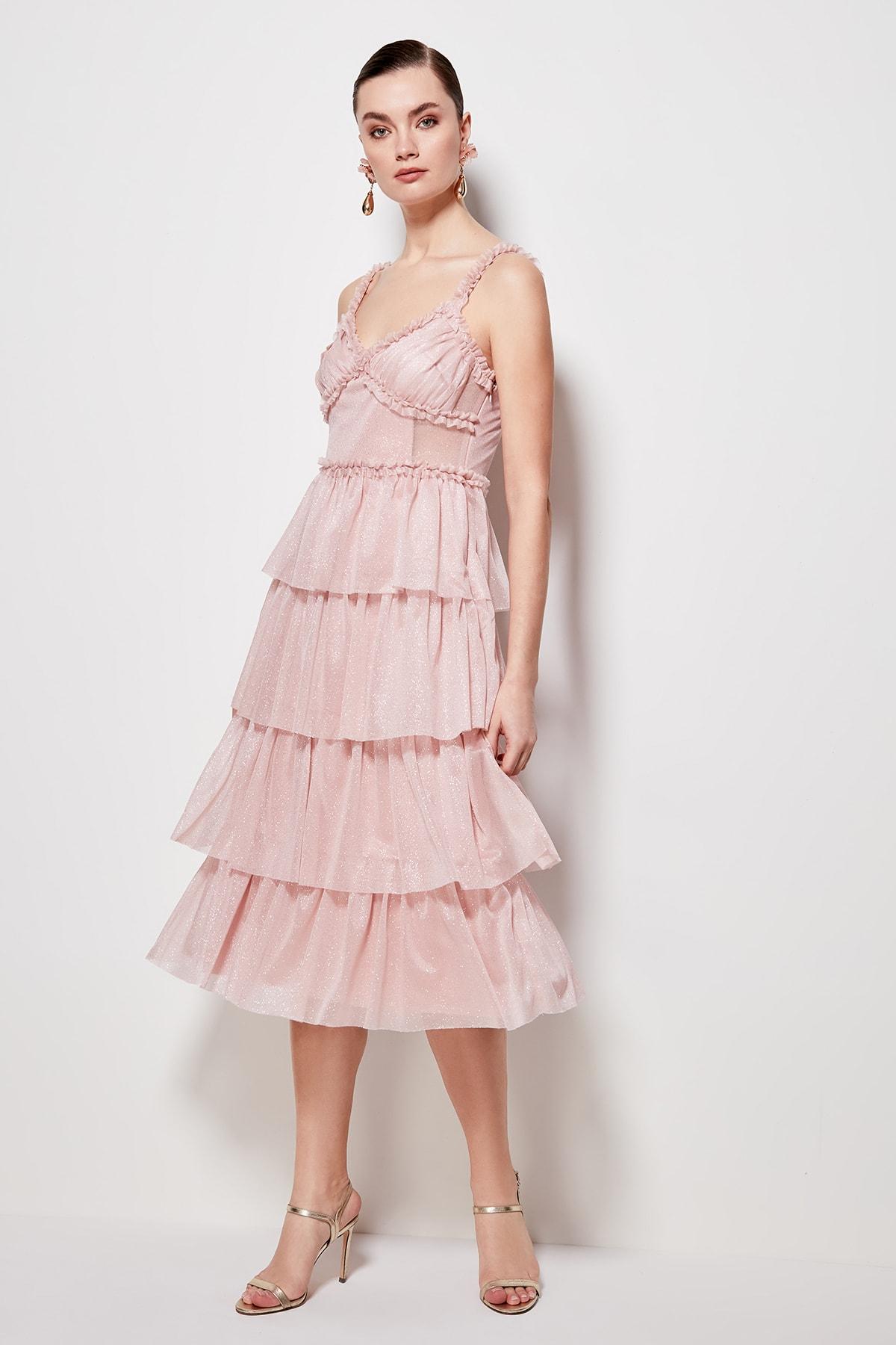 Trendyol Ruffle Detail Dress TPRSS20EL0212