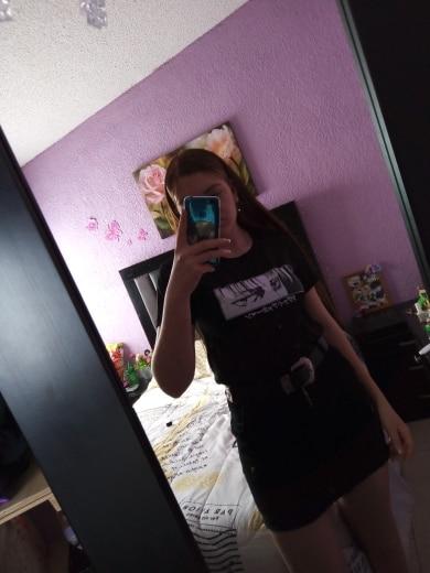 Egirl Harajuku anime Attack on Titan T-shirt photo review