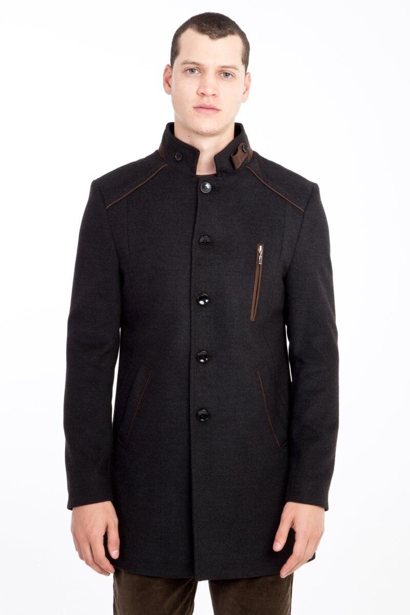 Kigili Menswear Autumn-Winter Warm Casual Overcoat High Quality Stand-up Collar Wool Coats Essentials Men's Wool Blend Jacket
