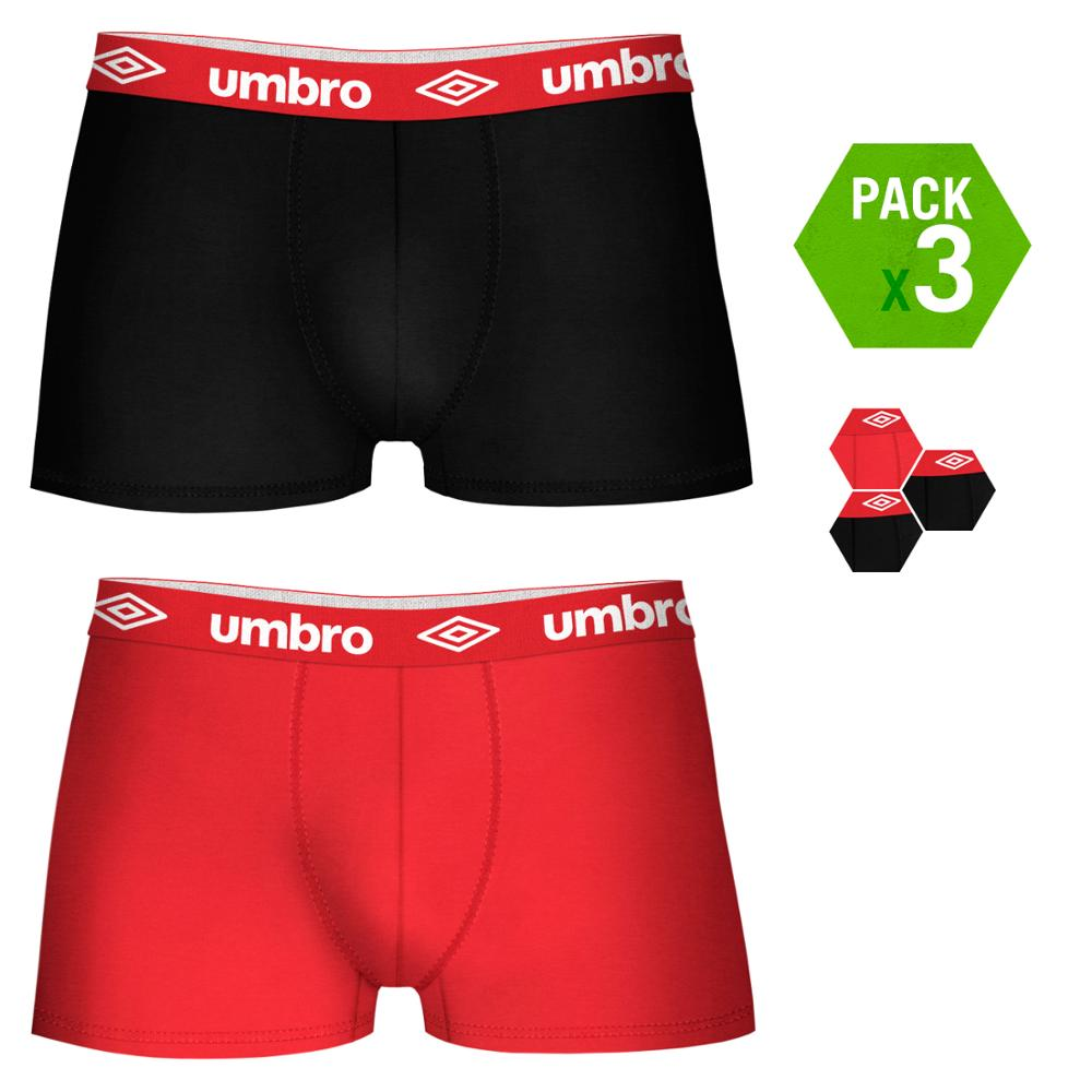 UMBRO Boxers Type Boxer Pack 3 Units In Black And Red Color For Men