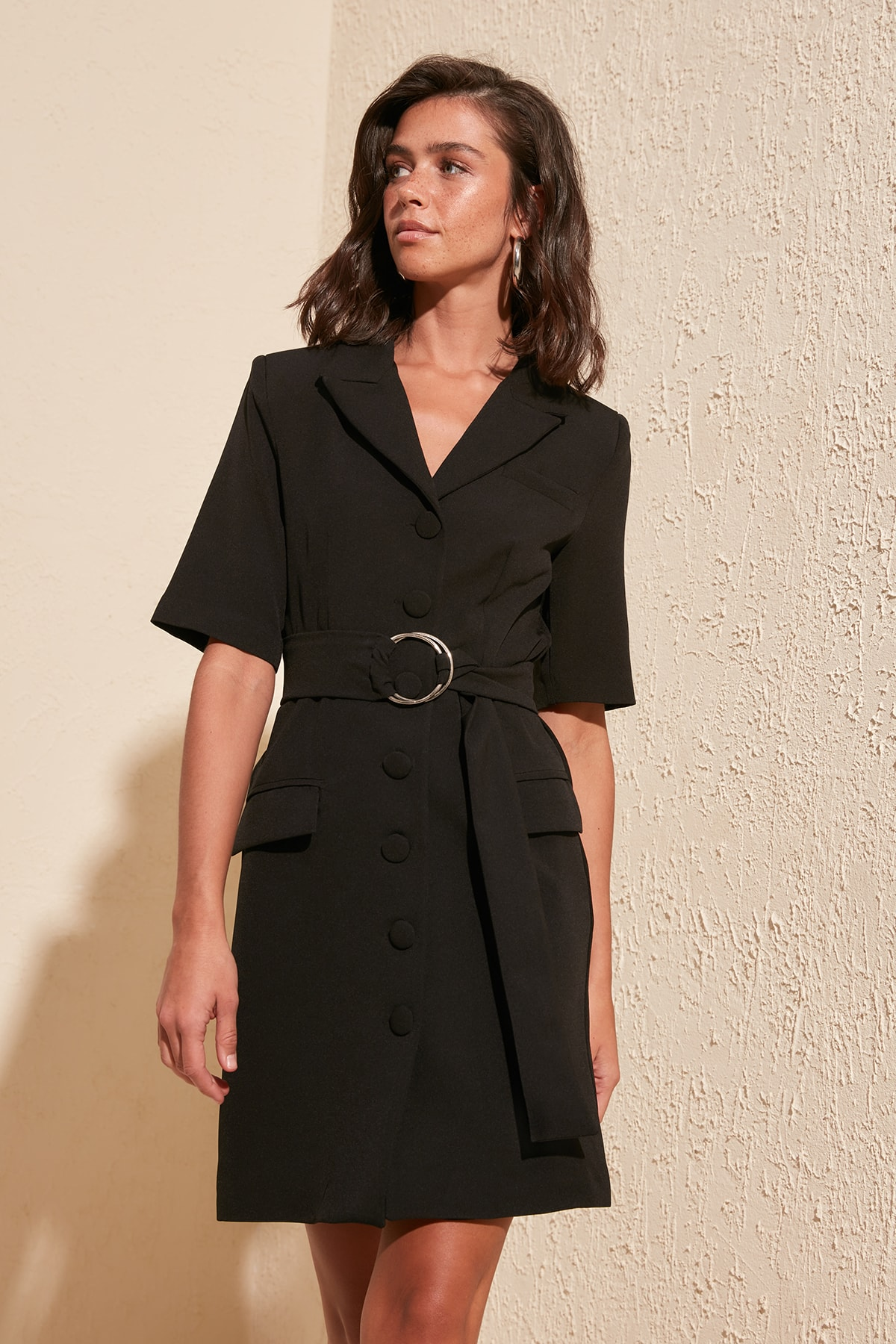 Trendyol Arched Jacket Dress TWOSS20EL1947