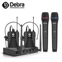 Au 400 uhf 4 канала Беспроводной микрофонная система ручной