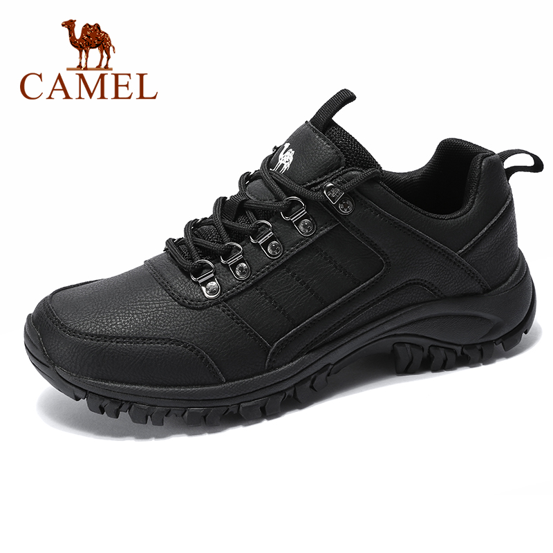 CAMEL Men Hiking Shoes Lace Up Men Shoes Outdoor Climbing Trekking Shoes Breathable Lightweight Waterproof Anti-Slip Sneakers