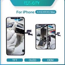 ل فون X XR XS OEM LCD تعمل باللمس مرنة OLED سوبر AMOLED عرض محول الأرقام الجمعية استبدال أجزاء الأسود و الأبيض