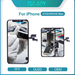 Image 1 - עבור iPhone X XR XS OEM LCD מגע מסך גמיש OLED סופר AMOLED תצוגת Digitizer עצרת שחור & לבן