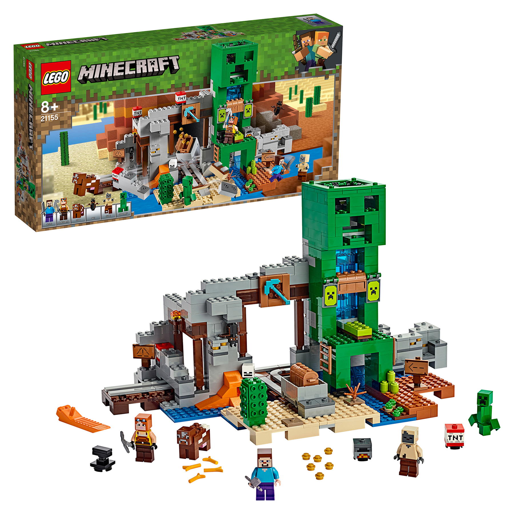 Designer LEGO Minecraft Майнкрафт 21155 Miniera creeper