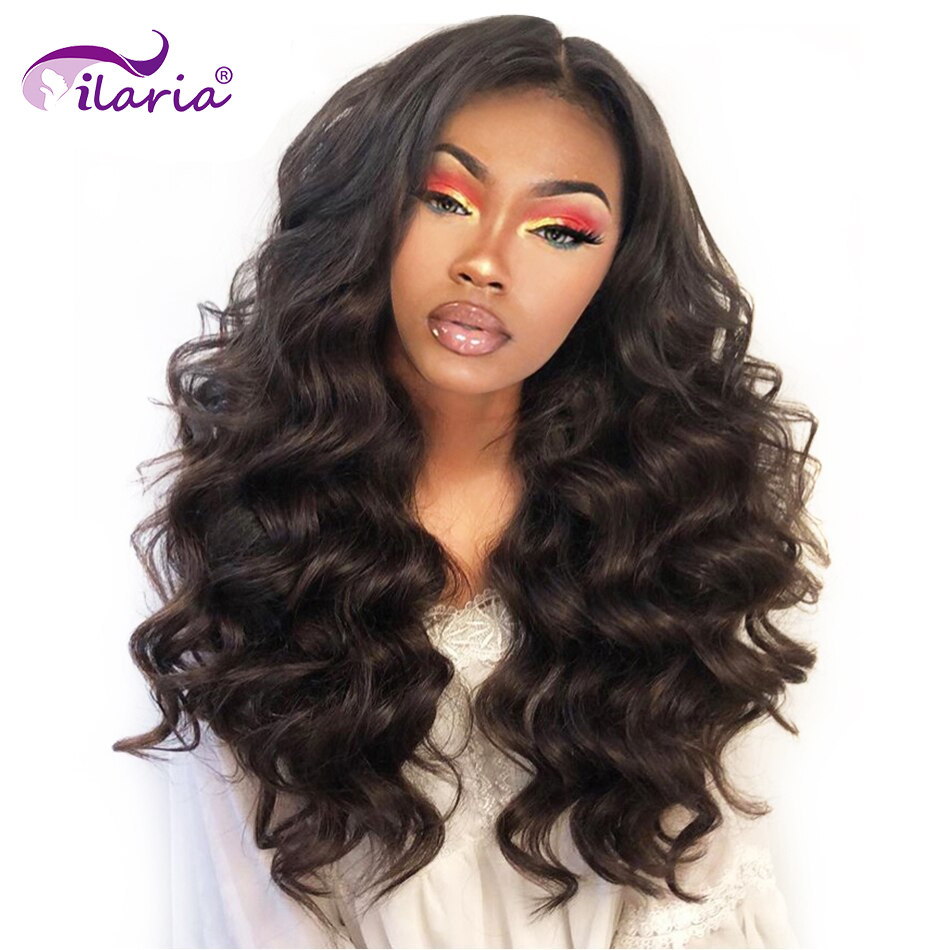 ILARIA 250% Density 360 Lace Frontal Wig Pre Plucked Brazilian Loose Wave Hair Lace Front Human Hair Wigs For Black Women