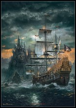 The Pirates Ship   Counted Cross Stitch Kits   DIY Handmade Needlework for Embroidery 14 ct Cross Stitch Sets DMC Color