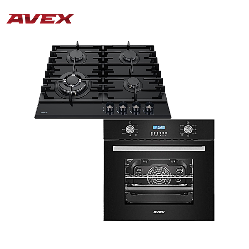 Set The Cooktop AVEX HM 6042 B And  Electric Oven AVEX HM 6170 B Household Home Appliances For The Kitchen Electric Oven Cooking