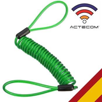 ACTECOM Cable Enrollado para candado de Moto recordatorio para candados de moto...