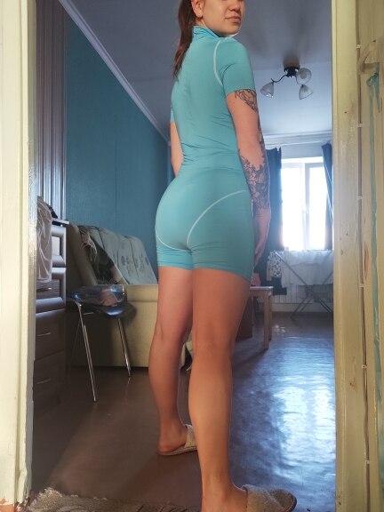 Kliou women skinny bodysuit short sleeve playsuit Reflective letter print rompers 2019 female turtleneck fashion casual bodysuit|Rompers|   - AliExpress