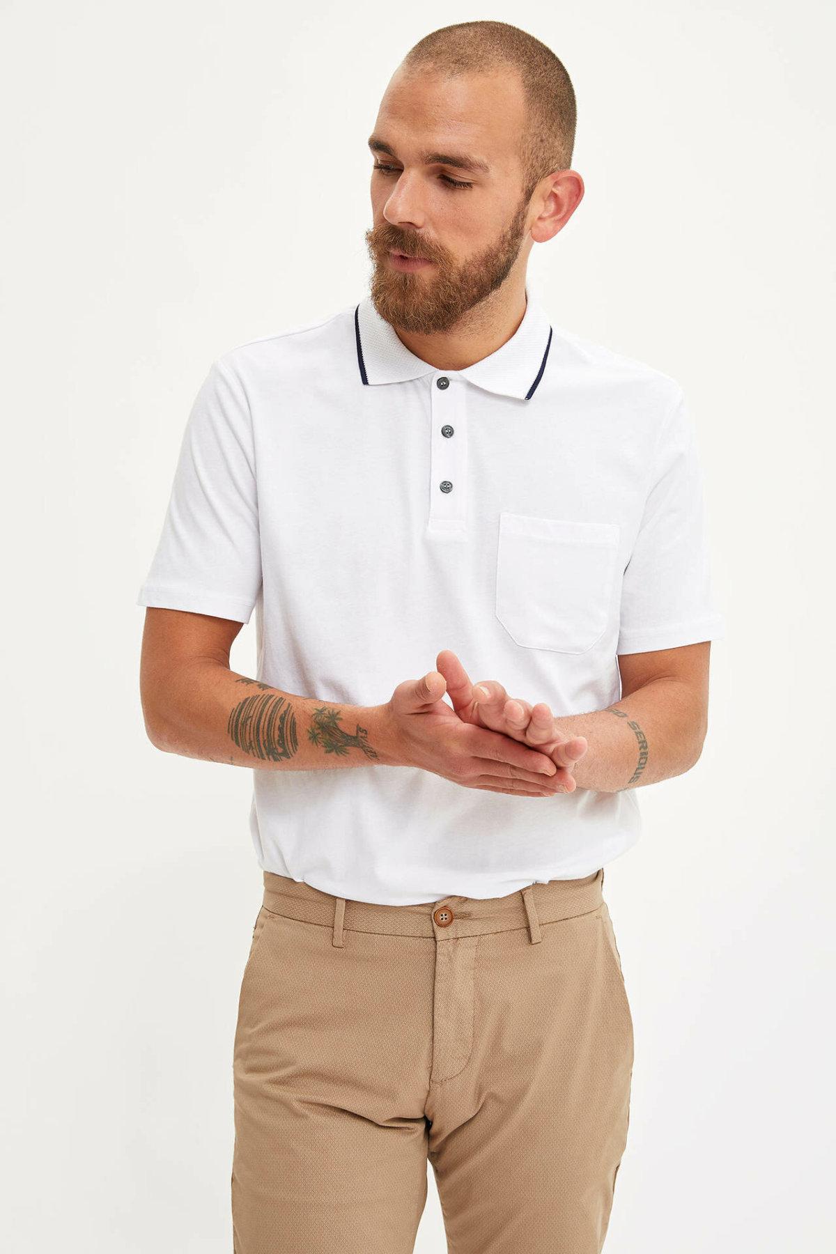 DeFacto Man Fashion Shirt Casual Fashion Pure Color Short Sleeve High Quality Loose Shirt New -L3755AZ19SM