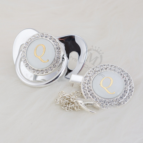 miyocar prata bling letra inicial q elegante
