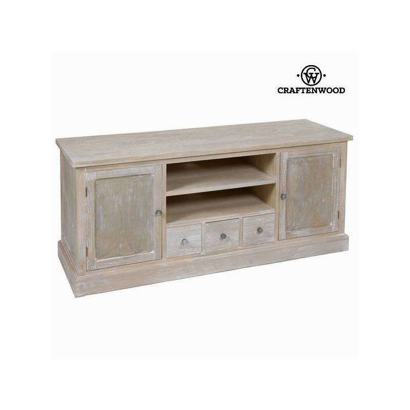 TV Table Pine Wood Mdf Wood Paulownia (150x50x66 Cm) -Lifelike Collection By Craftenwood