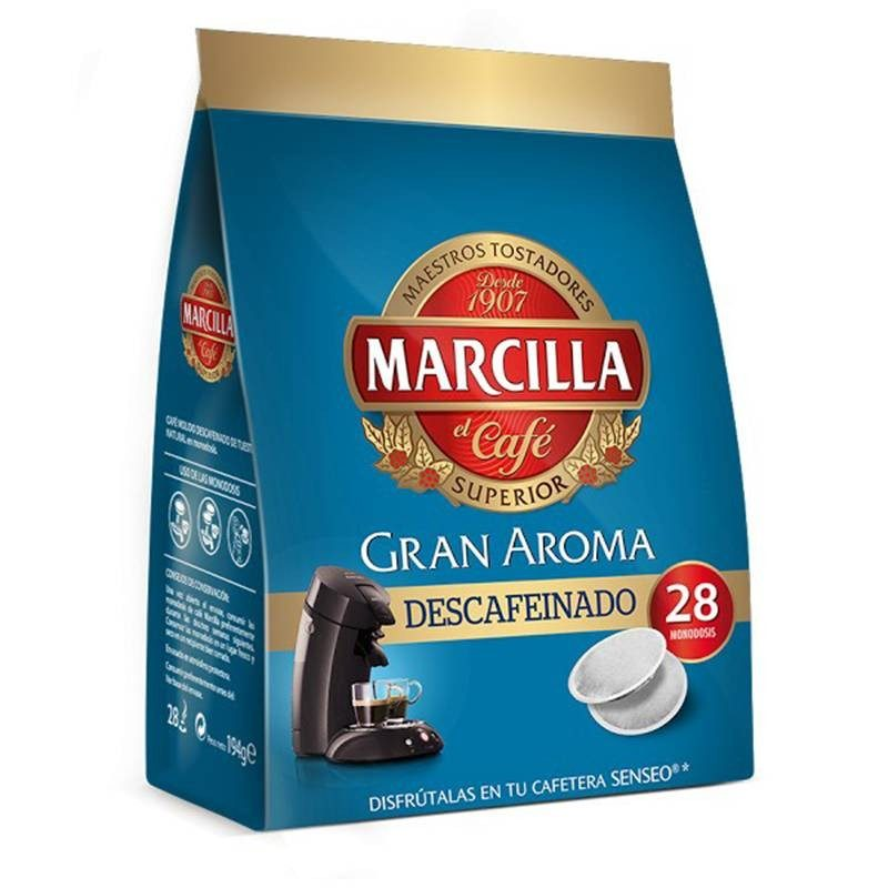 DECAFFEINATED Coffee Marcilla, 28 Pods SENSEO