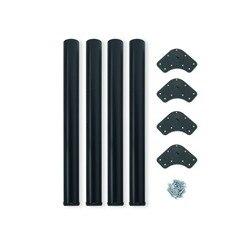 Kit 4 table legs adjustable Emuca D. 60x710mm steel painted black