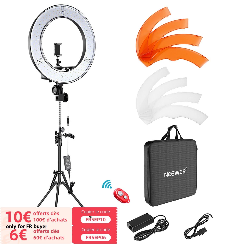 Neewer LED טבעת אור ערכת 18 אינץ טבעת מנורת צילום אור טבעת עבור YouTube איפור סטודיו צילום Ringlight עם אור stand