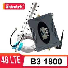 Lintratek 4g LTE 4 repetidor DCS 1800mhz amplificador celular 1800g signal booster DCS yagi antena 10m conjunto de cabos de rede móvel s8