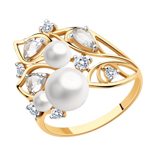 Sokolov Ring In Gold With A Mix Of Stones, Fashion Jewelry, 585, Women's Male