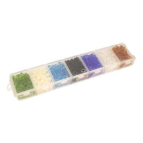 Bead Drops Set (drop), Size 5/0 (~ 4,5mm), 7 Colors, Preciosa (1)