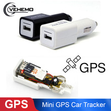 Mini GPS Car Tracker Vehicle Tracking Rastreador Car Tracker USB Car Charger Travel Portable Position Support Micro SD SIM Card(China)