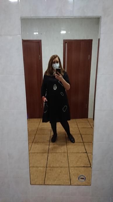 DIMANAF Oversize Women Dress Long Sleeve Vinatge Lady Vestidos Embroidery Dot Cotton Casual Loose Plus Size Clothes Black Spring reviews №1 61423