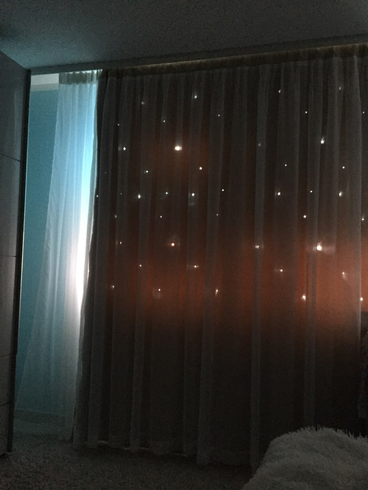 -- Cortinas Costurado Estrelas