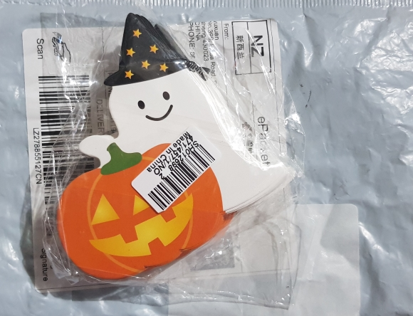 50pcs/lot Cute Ghost Pumpkin Style DIY Halloween Gift Candy Decorations Paper Cards Lollipop Cards Children Day Party Suppliers