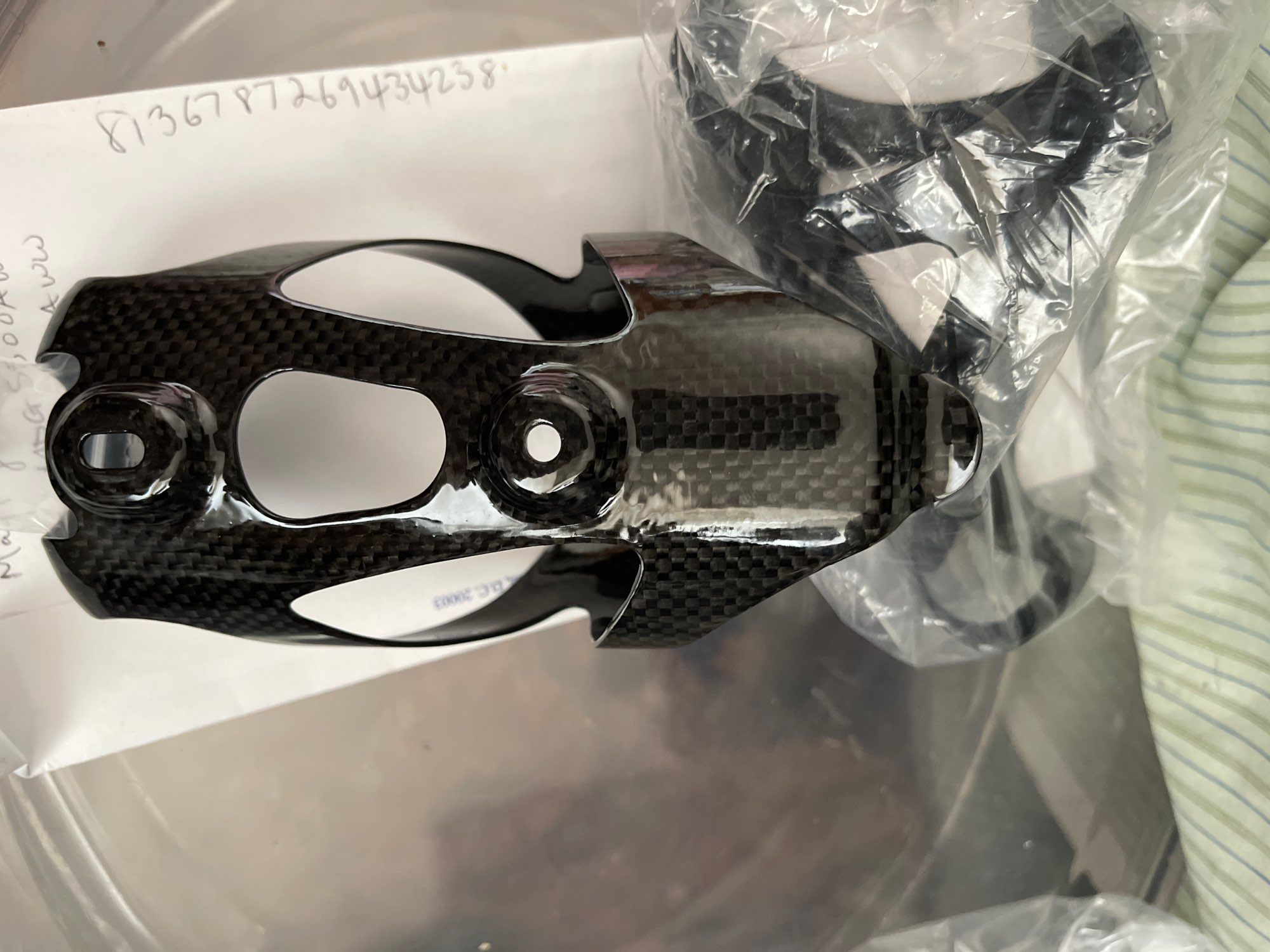 Carbon Fiber Style Bicycle Bottle Holder photo review