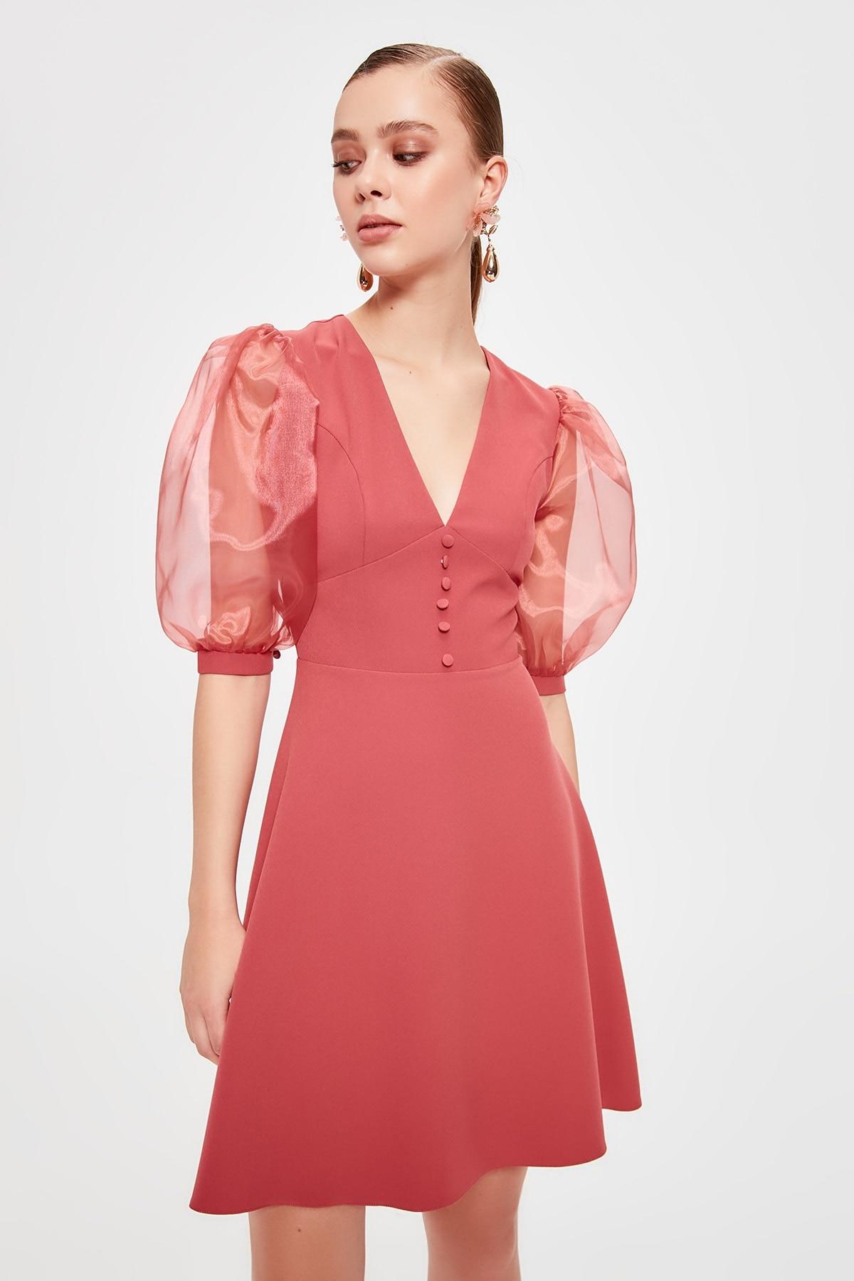 Trendyol Organza Sleeve Detail Dress TPRSS20EL0098()