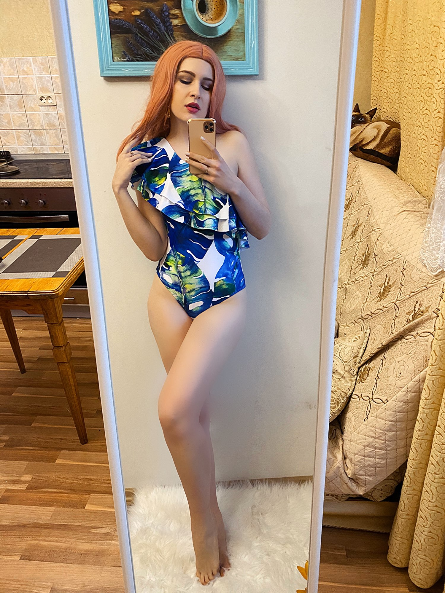2021 Print Floral One Piece Swimsuit Women Padded Swimwear Bandage Cut Out Mnokini Bathing Suit Plus Size Swimwear XL|Body Suits|   - AliExpress