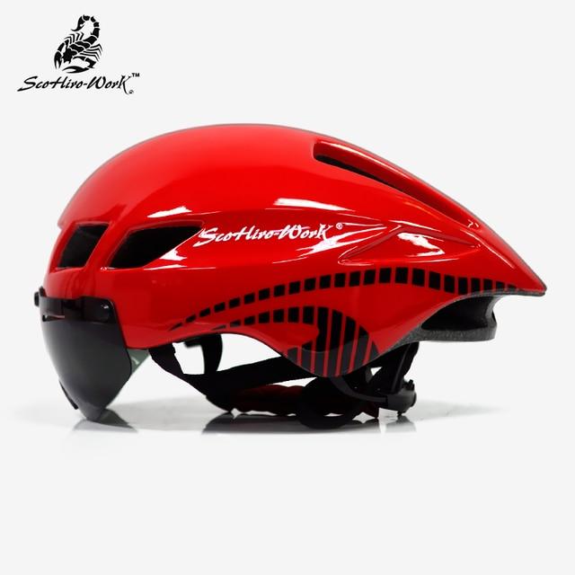 Capacete de bicicleta dos homens casco ciclismo estrada mtb mountain bike triathlon tt ciclismo capacete lente óculos equipa da bicicleta 2