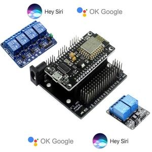 Роллер-мотор Apple Homekit, совместимый с смарт-домом, Google Home, Wi-Fi, 1, 2, 4, релейный пульт автоматизации iot, NodeMCU ESP8266