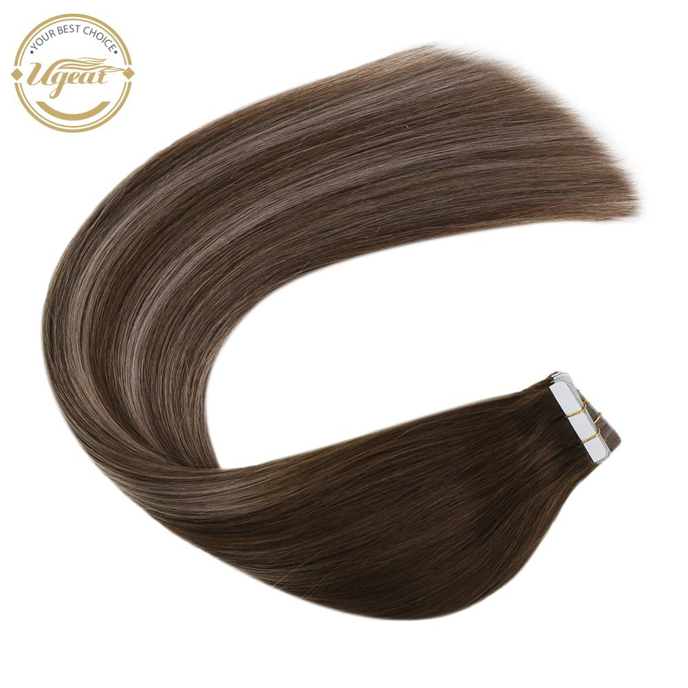 [16 Colors] Ugeat Human Hair Tape In Extensions 12-24