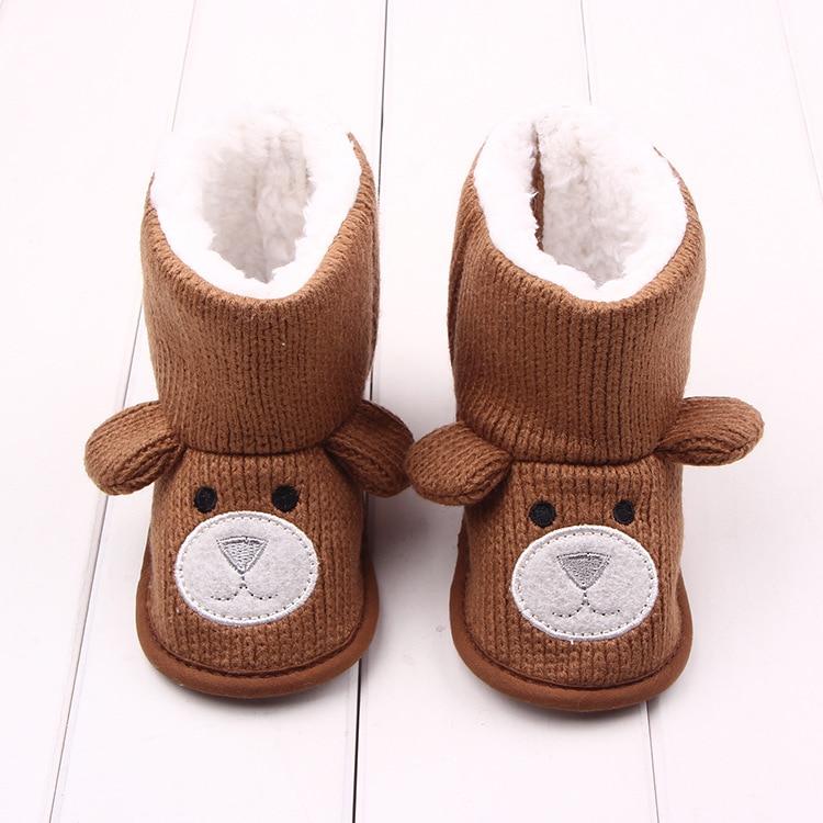 Милые детские зимние шерстяные сапожки
