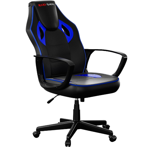 Chair Gamer Mars Gaming Mgc0bbl Color Black/blue Up Seat Pu AND Nylon Recliner AND Ergonomico Base PVC 60X75X110-120 Cm