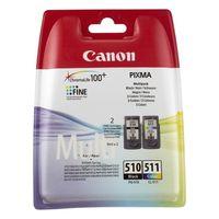 Orijinal mürekkep kartuşu (2 paket) Canon PG-510/CL511 üç renkli siyah