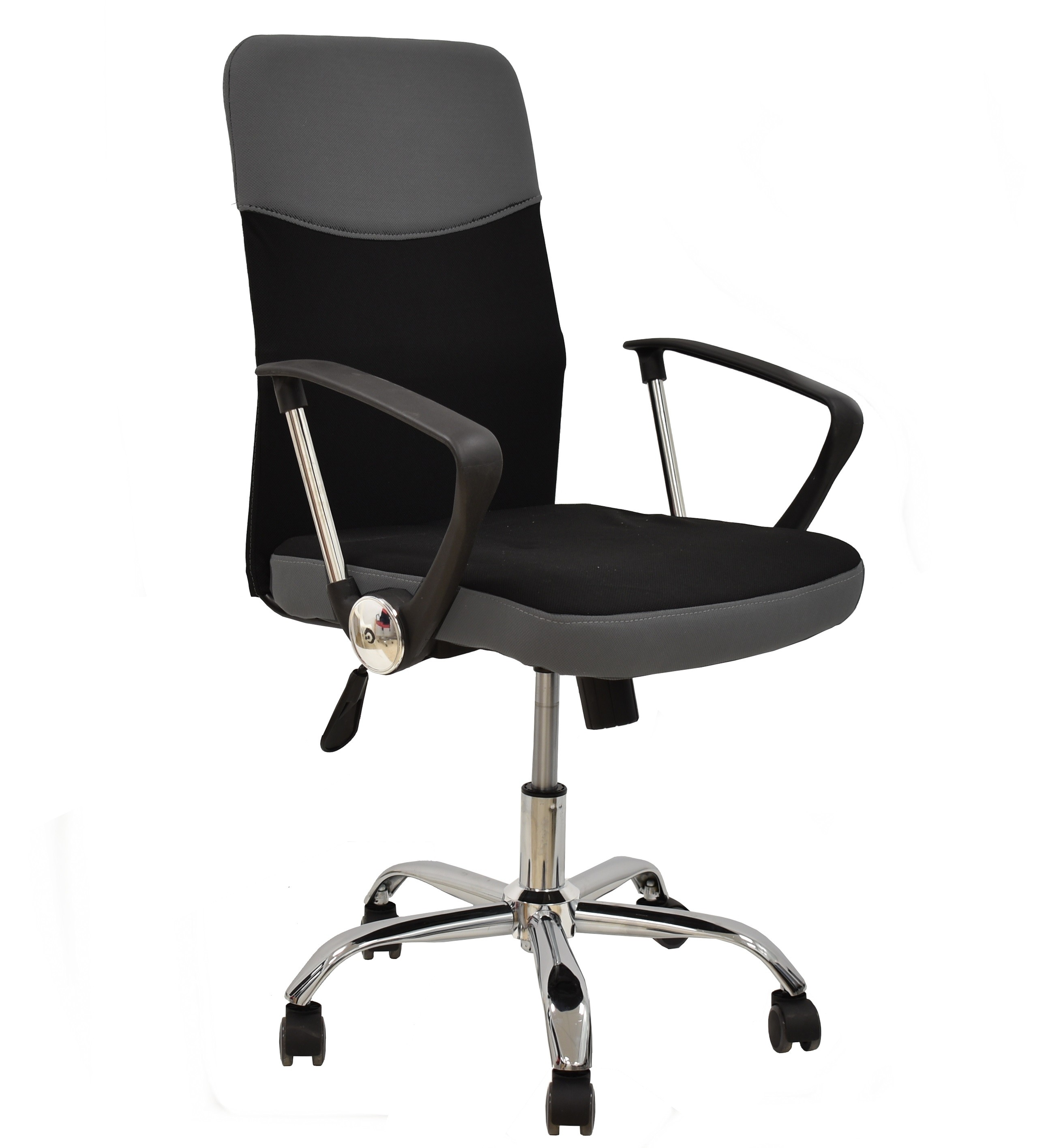 Office Armchair TANGO, Gas, Tilt, Fabric Black Gray