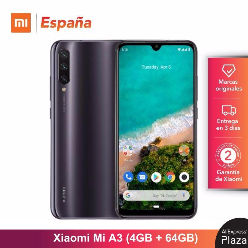 [Global Version For Spain] Xiaomi Mi A3 (Memoria Interna De 64GB, RAM De 4GB, Triple Cámara) Móvil