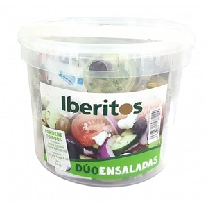 IBERITOS-cube cube with 7 Packs for salade, oil Oliva, Vinegar and salt