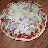 平底锅+炭炉子=披萨的做法图解12