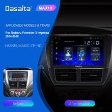 """Dasaita 9 """"Ips Auto Multimidia Android 10.0 Voor Subaru Forester Wrx 2008 2009 2010 2011 2012 Radio Gps Navigatie TDA7850 MAX10"""