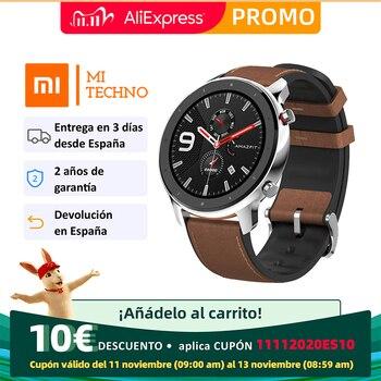 Amazfit GTR 47mm Smartwatch (Huami Bluetooth Smart Watch GPS Ceramic Bezel Sport Android IOS)[Global version]