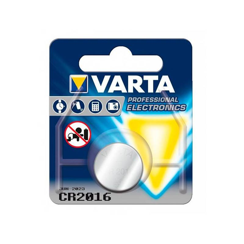 Lithium Button Cell Varta CR-2016 3 V Silver
