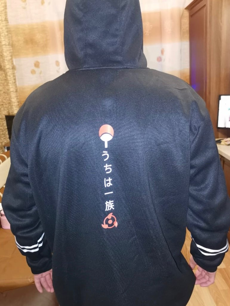 Hoodie with Anime Naruto print Uchiha photo review